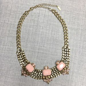 Jewelmint Blush Pink Gold Statement Necklace